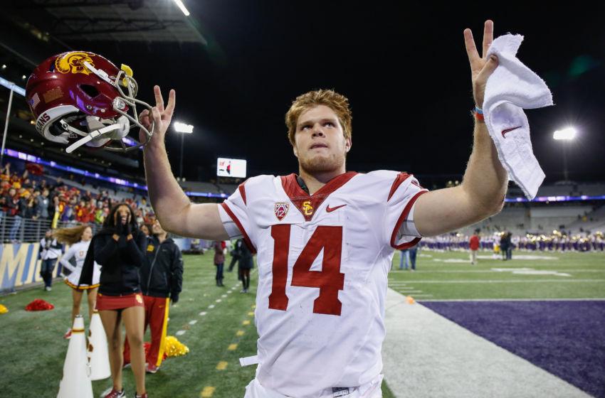 SEATTLE, WA - NOVEMBER 12: Quarterback Sam Darnold