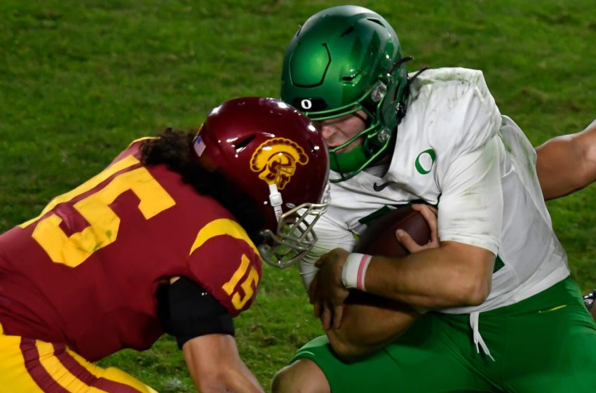 USC football safety Talanoa Hufanga. (Robert Hanashiro-USA TODAY Sports)